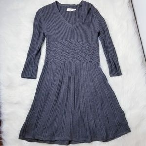 Eliza J Gray Longsleeves Knit Dress sz M -B03